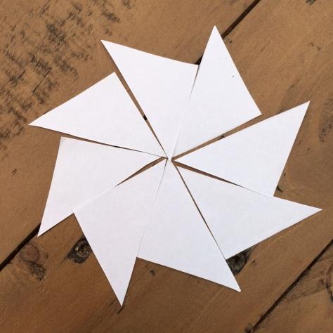 Ein Dreiecksstern