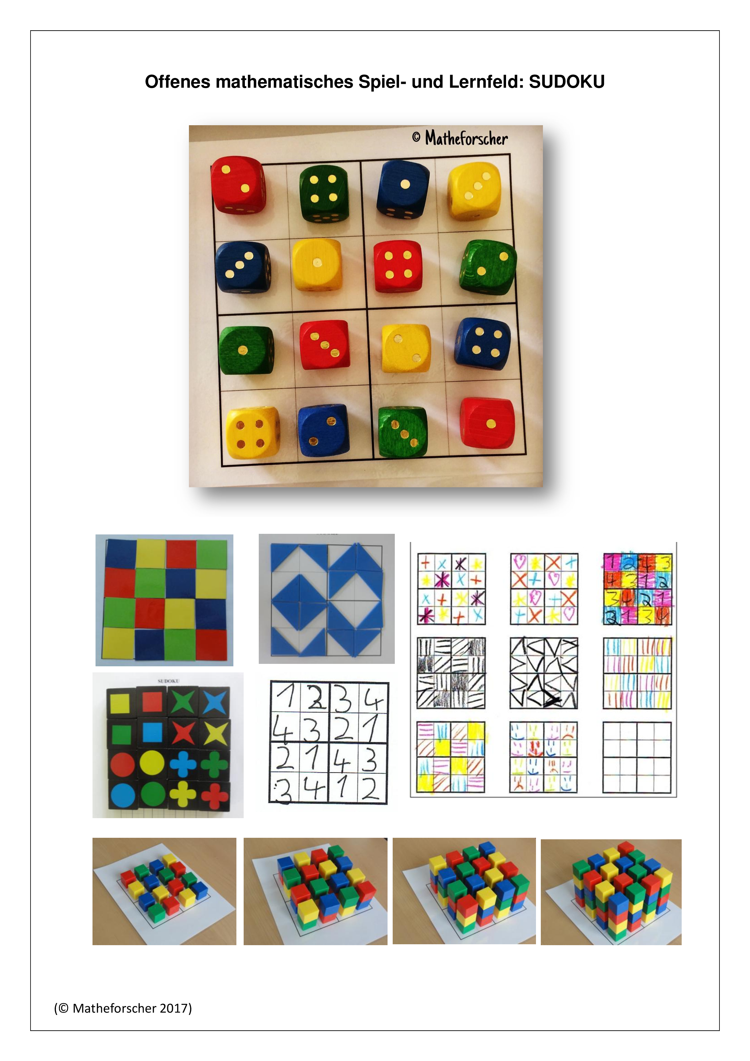 Sudoku-Kopiervorlage und Anleitung