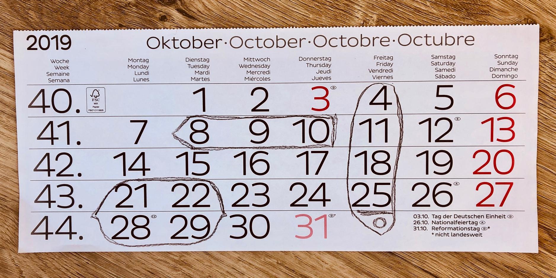 Kalendermathematik Schiffe versenken